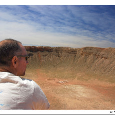 Going spacewise (Meteor Crater, AZ)