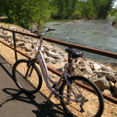 A Bike On The Boise Greenbelt