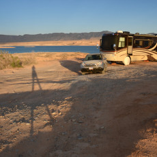 Boondocking Site Review – Stewarts Point, Lake Mead, NV