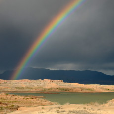 Spring Folly, Storms & Rainbows – North Lake Mead, NV