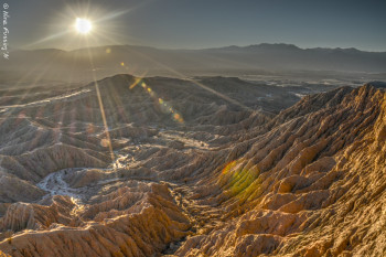Sunset at magical Font's Point in Borrego, CA