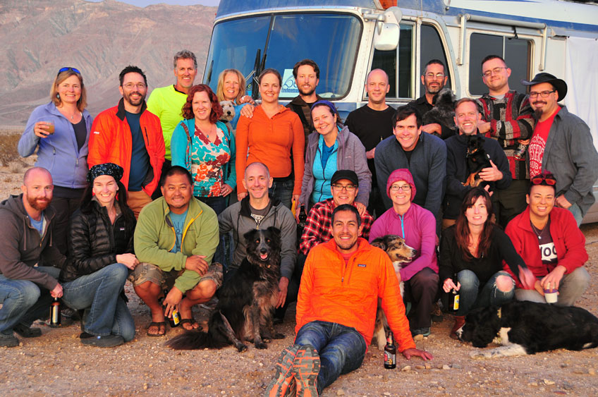 I never expected RVing to be so social. This pic was taken by our buddies Alumanirium during meet-ups last winter.