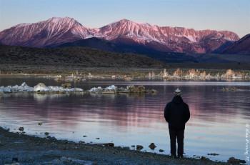 A brief & rare purple light right before the sun crests at Mono Lake, CA