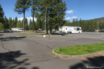 Another view of RV's parked in RV area.