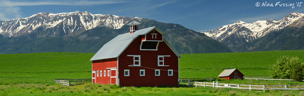 Picture-perfect barns in Joseph, OR