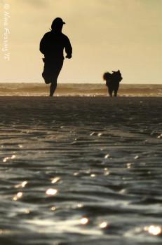 Our last run on the beach