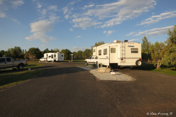 More A loop sites. RV in front in site A15, with RV in back in site A17. These were both large and flat.