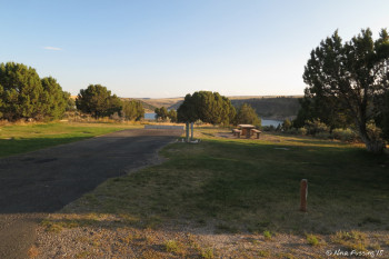 Second best view in the campground. 30amp/water site A14.