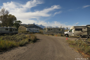 Loop A - Sites 68, 69, 71. These sites have the absolute best view of the Tetons in the campground.