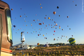 """The launch view from our site at the boomers. We had great """"seats""""."""