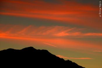 Sunset flurries