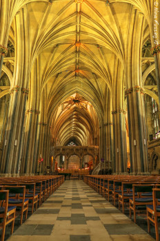 The interior of Bristol Cathedral
