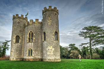"The ""folly"" castle. See my dad strolling on the right?"