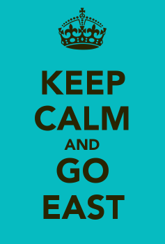 Yes, I'm trying to keep calm about this whole going East thing