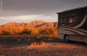 Golden afternoon desert hues