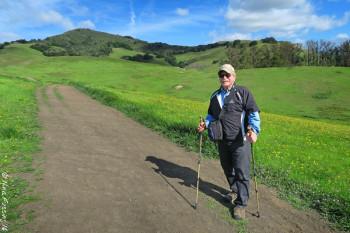 My buddy Lauren on the Johnson Trail