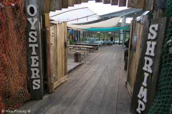Next-door Rough Bar. Excellent beer and cioppino here. Plus the outdoor area is dog-friendly.
