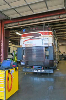 In the shop. It's a part of RV life...