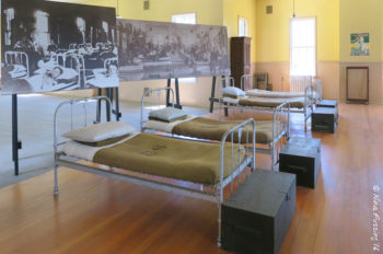 Inside the mens barracks building