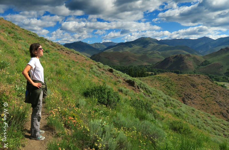 Becky poses on our hike near Ketchum last week
