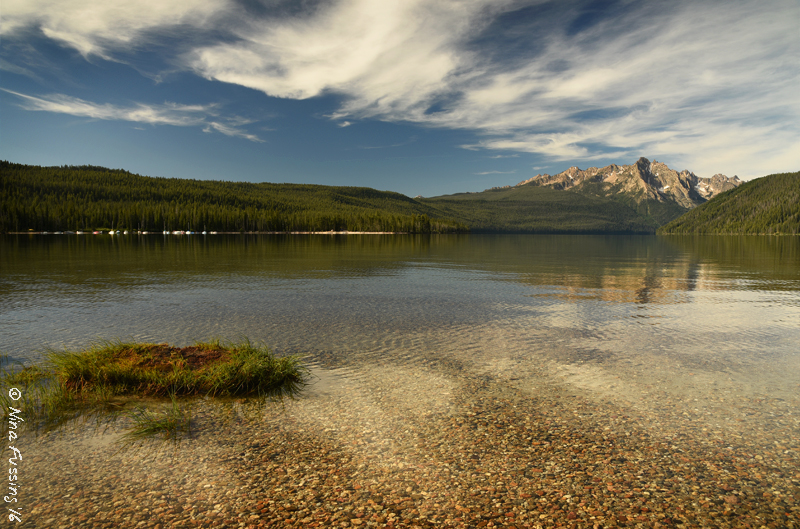 Morning clouds at Redfish Lake (Stanley, ID). It's frikking gorgeous here!