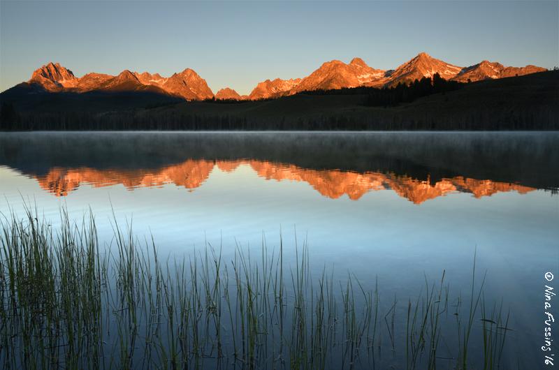 Morning alpenglow. Frikkin magical!