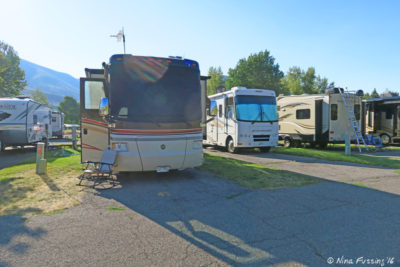 View from front of our site #41 with a full RV park (all sites full).