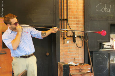 Glass blowing demo at Greenfield Village