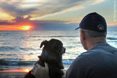 Polly, Paul, sunset....love :)