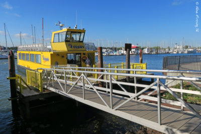 Liberty Harbor Ferries. Only 10 mins walk from the RV Park & they're dog-friendly!