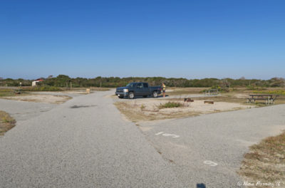 View towards beginning of B loop. Empty site B6 on left with B4, B2 behind it.