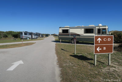 View towards B/C loop connection. RV in site C1 on right.
