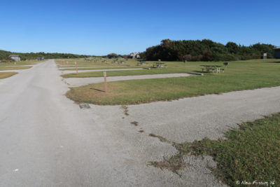View down road-side of B loop. Site B44 on right with B42, B40 behind. These sites are too close for my liking.