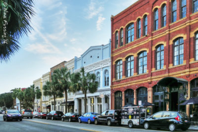 Historic buildings along East Battery Street