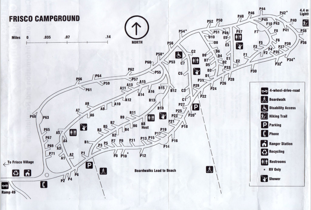 Frisco campground map. Click for larger size.